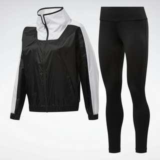 Reebok MYT Track Suit Trainingsanzug Damen Schwarz