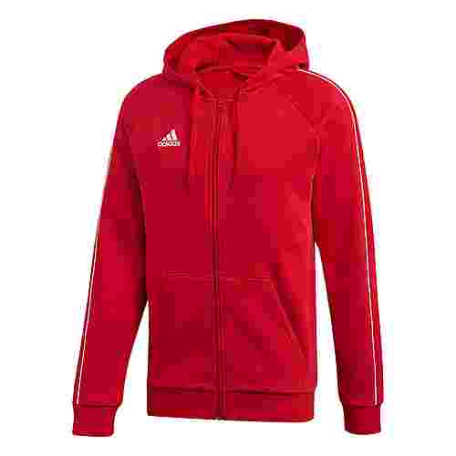 adidas Core 19 Kapuzenjacke Sweatjacke Herren Power Red / White