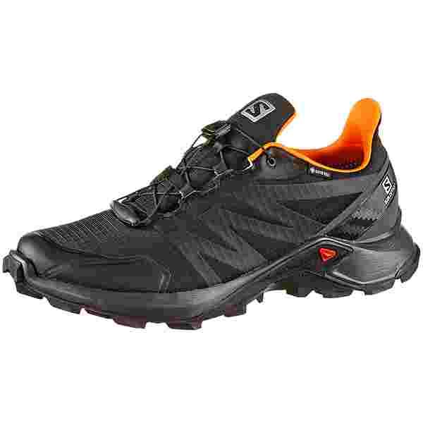 Salomon GTX Supercross Trailrunning Schuhe Herren black-ebony-exotic orange