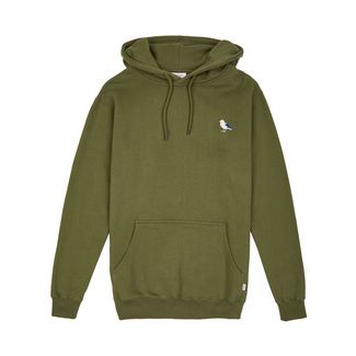 Cleptomanicx Hooded Embro Gull 2 Kapuzenshirt Herren Rifle Green