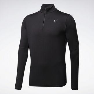 Reebok Running Essentials Quarter-Zip Top Funktionssweatshirt Herren Schwarz