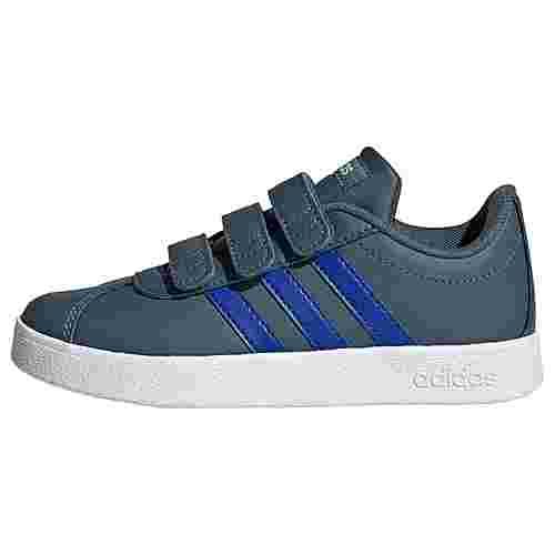 adidas VL Court 2.0 Schuh Sneaker Kinder Legacy Blue / Royal Blue / Signal Green