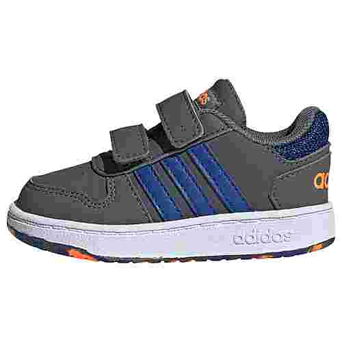 adidas Hoops 2.0 Schuh Sneaker Kinder Grey Five / Royal Blue / Signal Orange