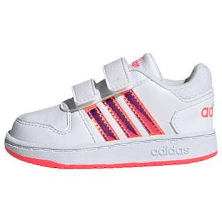 adidas Hoops 2.0 Schuh Sneaker Kinder Cloud White / Cloud White / Signal Pink / Coral