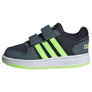 adidas Hoops 2.0 Schuh Sneaker Kinder Legend Ink / Signal Green / Legacy Blue