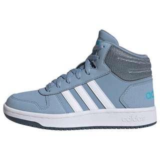 adidas Hoops 2.0 Mid Schuh Basketballschuhe Kinder Tactile Blue / Cloud White / Legacy Blue