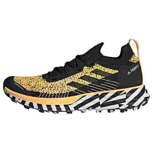 adidas TERREX Two Parley Trailrunning-Schuh Trailrunning Schuhe Damen Solar Gold / Core Black / Cloud White