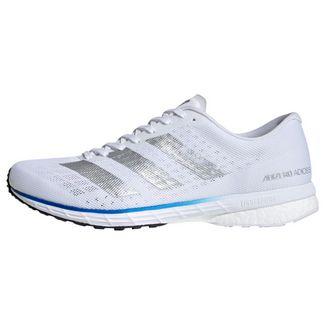 adidas Adizero Adios 5 Laufschuh Laufschuhe Herren Cloud White / Silver Metallic / Royal Blue