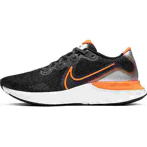 Nike Renew Run Laufschuhe Herren black-total orange-partice grey-white