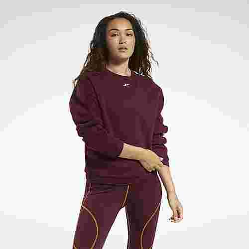 Reebok MYT Crew Sweatshirt Funktionssweatshirt Damen Weinrot