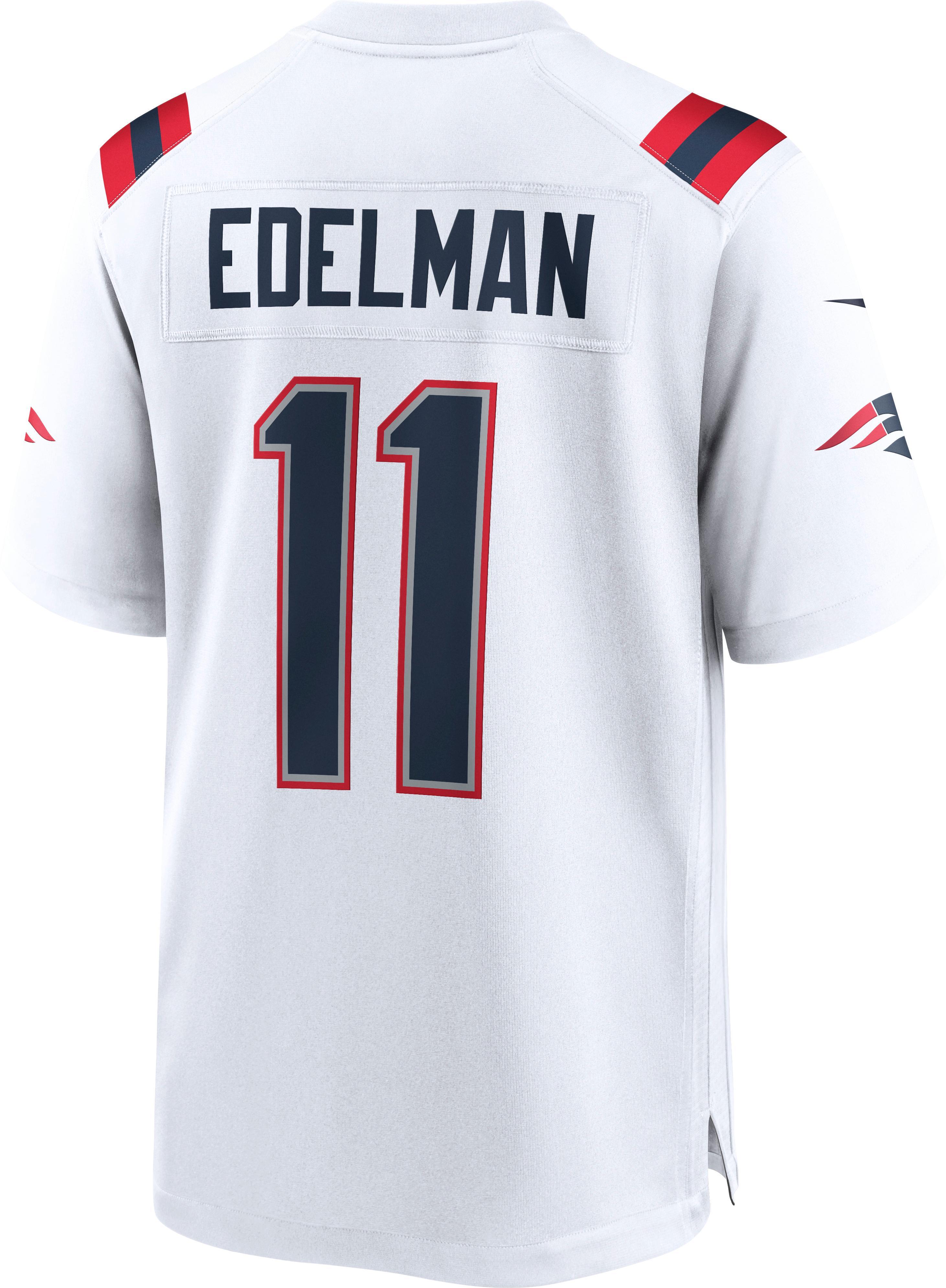 Rot WEVB New England Patriots im Freien Julian Edelman Julian #11 Herren Rugby-Trikot New England Patriots Jugend American Football Sporttrikot