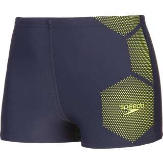 SPEEDO Badeshorts Kinder true navy-fluo yellow