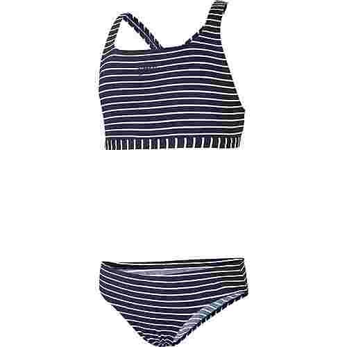 SPEEDO Bikini Set Kinder stripe navy-white
