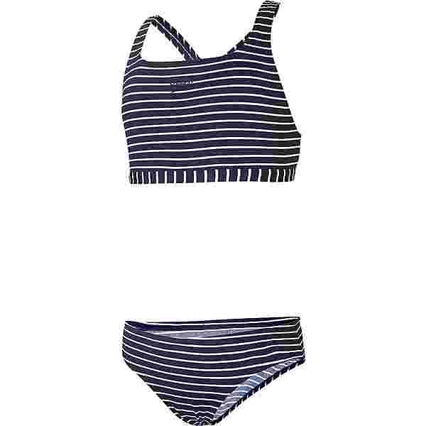 SPEEDO ESSENTIAL ENDURANCE+ MEDALIST Bikini Set Kinder stripe navy-white