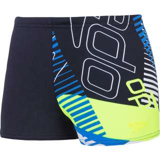 SPEEDO Badeshorts Kinder revival navy-bondi blue-fluo yellow-white