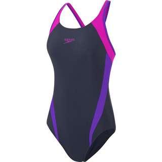 SPEEDO Schwimmanzug Damen navy/purple