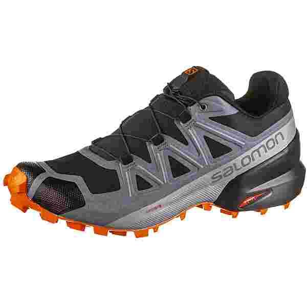 Salomon Speedcross 5 Trailrunning Schuhe Herren black-stormy weather-red orange