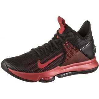 Nike LEBRON WITNESS IV Basketballschuhe Herren black-gym red-bright crimson