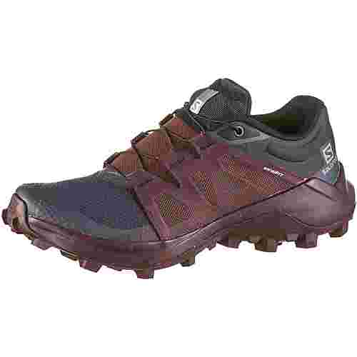 Salomon WILDCROSS Trailrunning Schuhe Damen india ink-winetasting-black