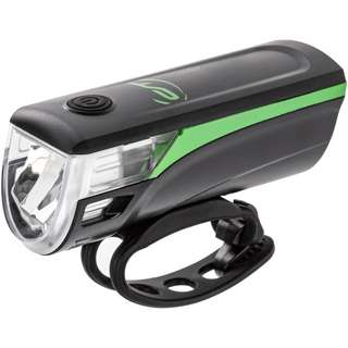 Contec Batterie-LED_Leuchtenset Fahrradbeleuchtung schwarz/neogreen
