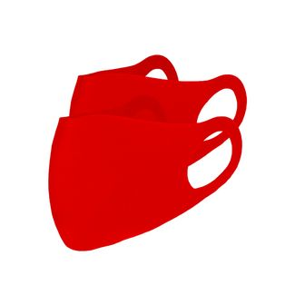 No Logo. Full Hope. 2 PACK Stoffmaske Gesichtsmaske rot