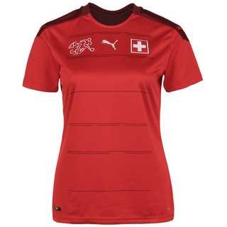 PUMA SFV Schweiz EM 2021 Heim Fußballtrikot Damen rot / bordeaux