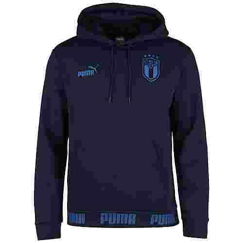 PUMA FIGC Italien FtblCulture EM 2021 Hoodie Herren dunkelblau / blau