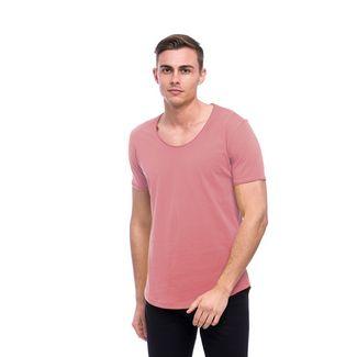 Tom Barron Rundhalsshirt mit Kurzarm T-Shirt Herren rosapink