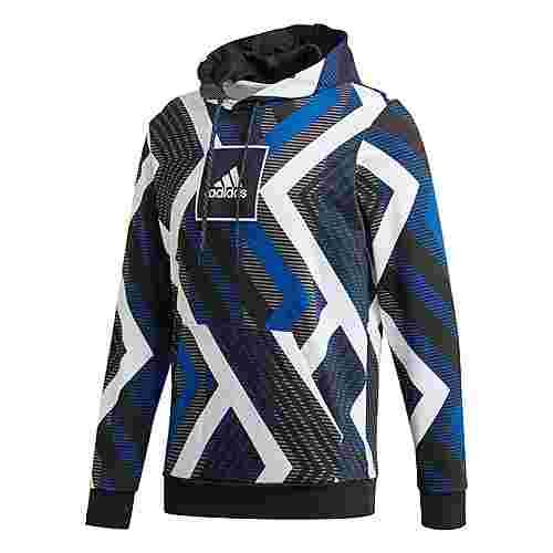 adidas Allover Print Hoodie Hoodie Herren White / Royal Blue / Grey Four / Black