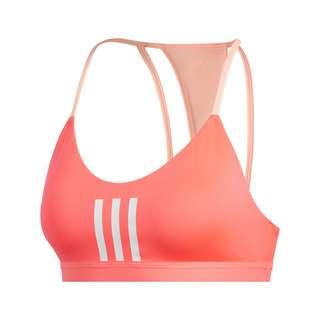 adidas All Me 3-Streifen Mesh Sport-BH BH Damen Signal Pink / White / Grey One