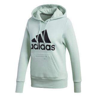 adidas Badge of Sport Pullover Fleece Hoodie Hoodie Damen Grün