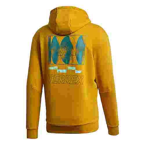 adidas TERREX Logo Hoodie Hoodie Herren Gold