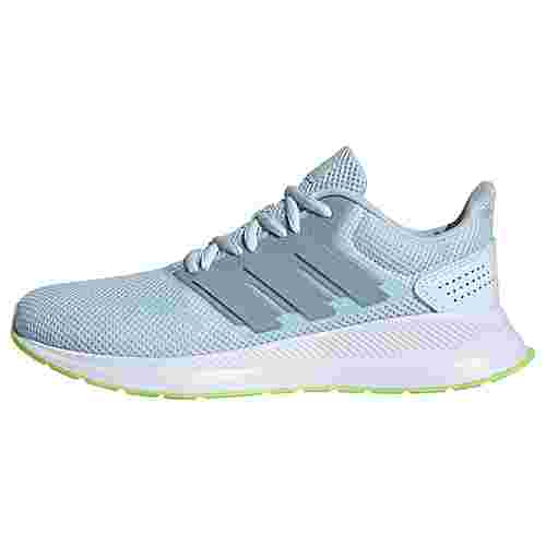 adidas Runfalcon Schuh Laufschuhe Damen Sky Tint / Tactile Blue / Signal Green