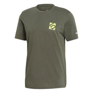 adidas Five Ten Logo T-Shirt Funktionsshirt Herren Legend Earth / Semi Solar Slime