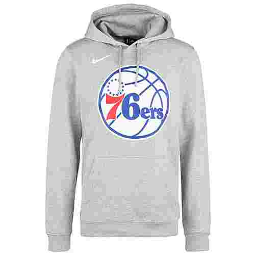 Nike NBA Philadelphia 96ers Logo Fleece Hoodie Herren grau