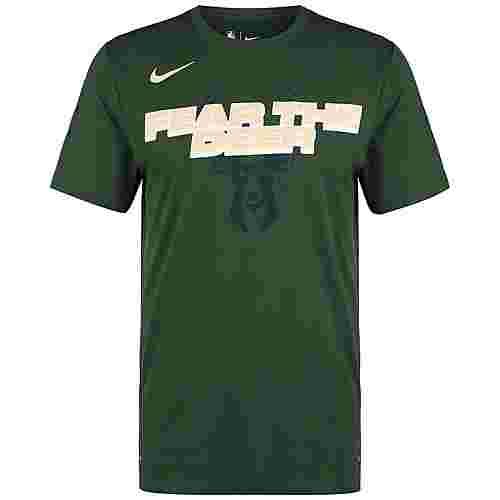 Nike NBA Milwaukee Bucks Mantra Dry Fanshirt Herren dunkelgrün