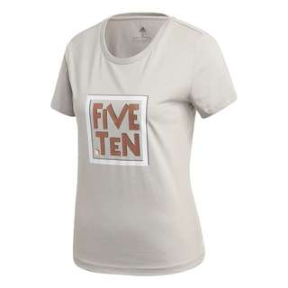 adidas Five Ten Heritage Graphic T-Shirt Funktionsshirt Damen Grau