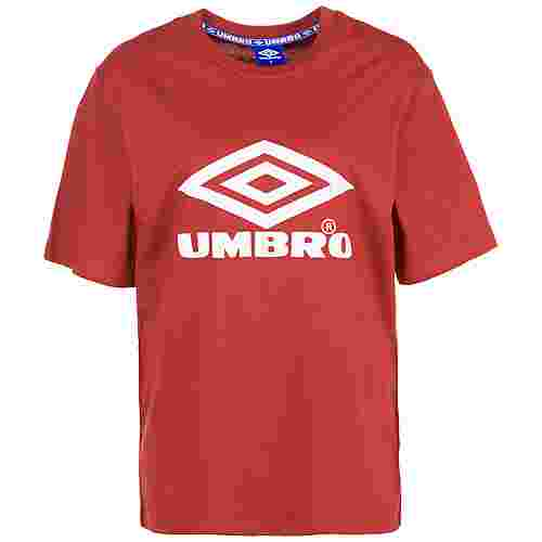 UMBRO Boyfriend Fit Logo T-Shirt Damen rot / weiß