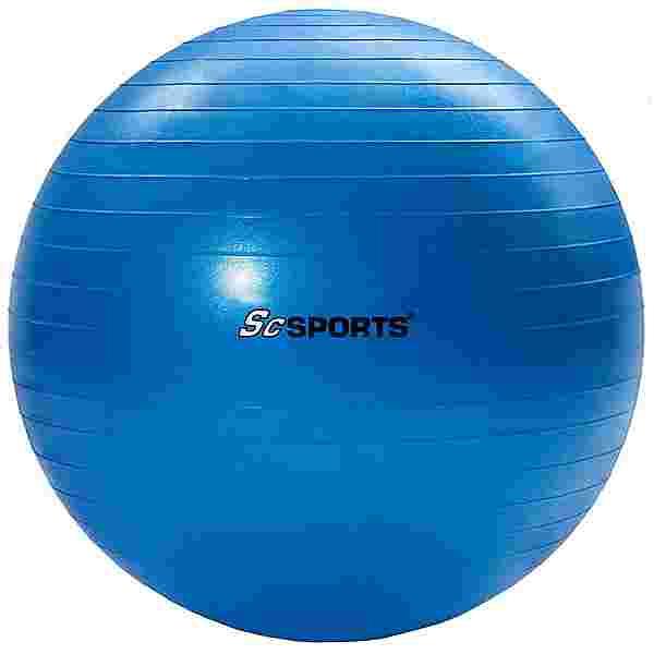 ScSPORTS Gymnastikball  65 cm Gymnastikball blau