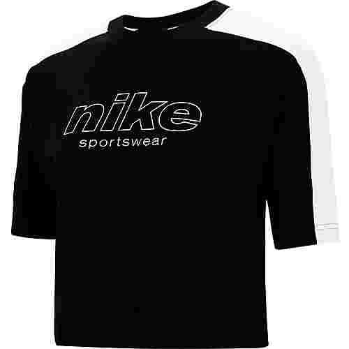 Nike NSW T-Shirt Damen black-white-white