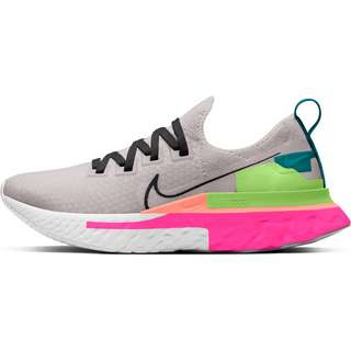 Nike React Infinity Run Flyknit Premium Laufschuhe Damen violet ash-dk smoke grey-pink blast