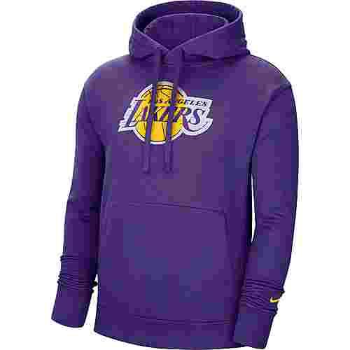 Nike Los Angeles Lakers Hoodie Herren field purple-amarillo