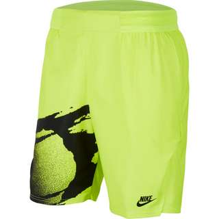 Nike Court Slam Tennisshorts Herren hot lime-black-black
