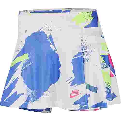 Nike Court Slam Tennisrock Damen white-sapphire-hot lime-pink foil