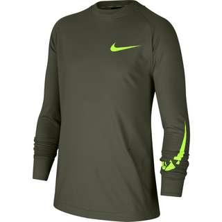 Nike Fleeceshirt Kinder cargo khaki-volt