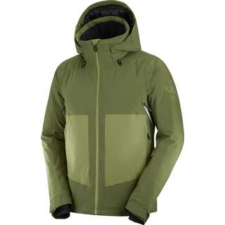 Salomon Skijacke Herren olive night/martini olive/wht
