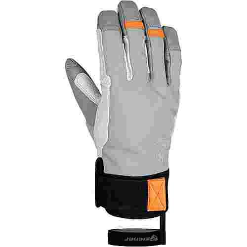 Ziener GAMINUS Fingerhandschuhe Herren dusty grey.new orange