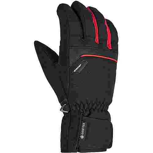 Ziener GORE-TEX® GLYN Skihandschuhe Herren black.red