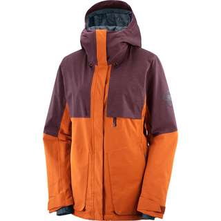 Salomon Proof Light Skijacke Damen umber/wine tasting/heather