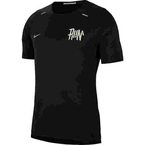 Nike Breath Rise 365 Funktionsshirt Herren black-light bone-reflective silv